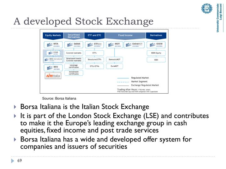 A developed Stock Exchange