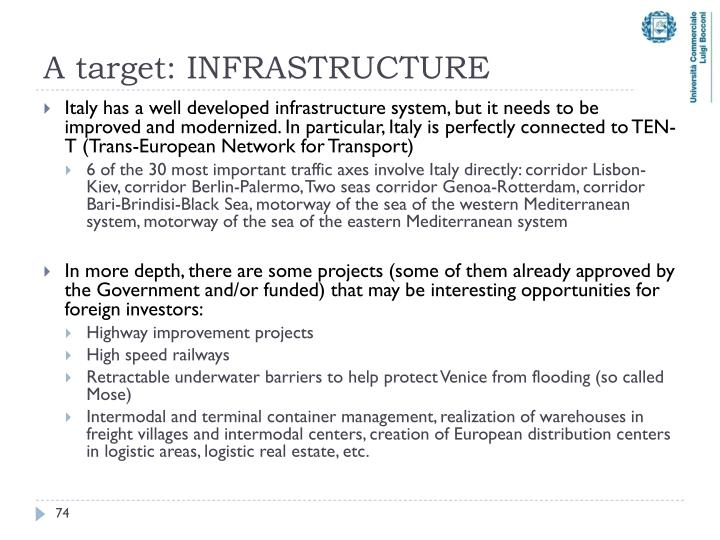 A target: INFRASTRUCTURE