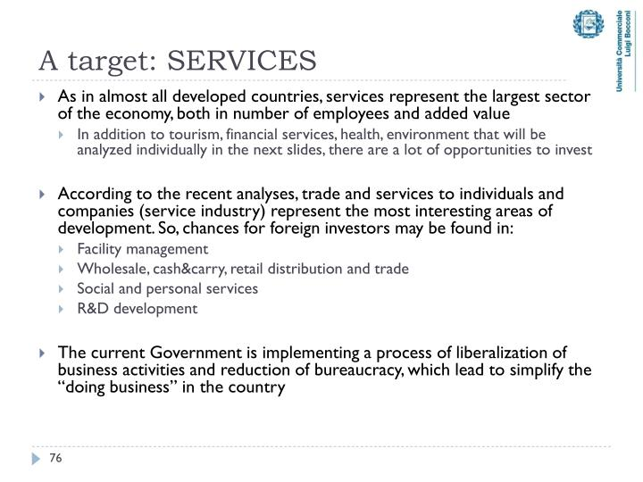 A target: SERVICES