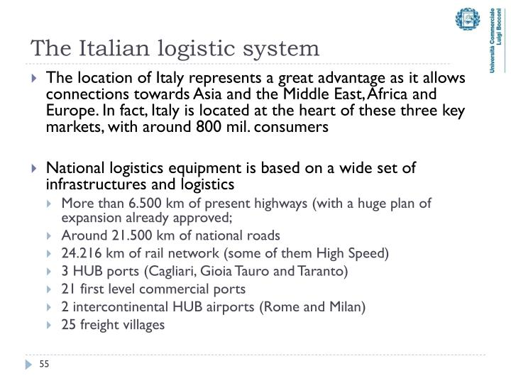 The Italian logistic system