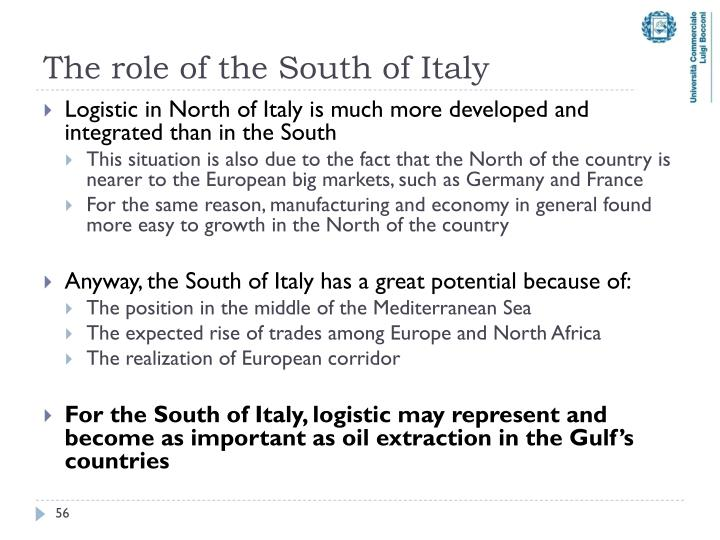The role of the South of Italy