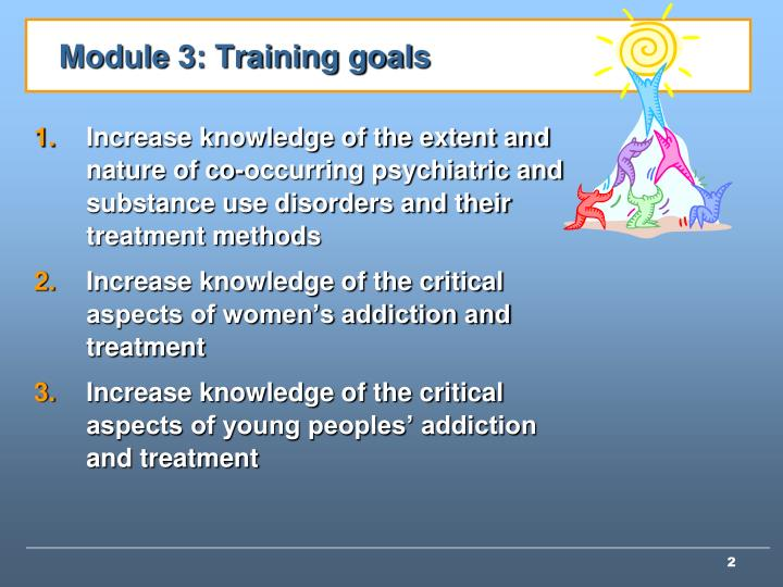 Module 3: Training goals