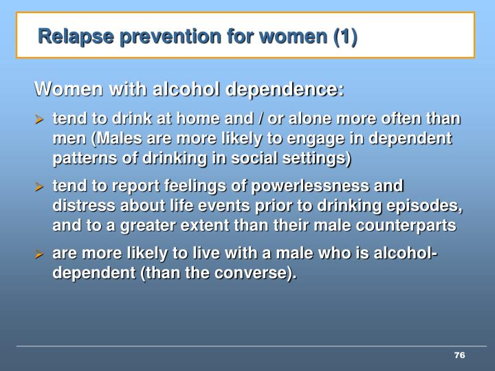 Relapse prevention for women (1)