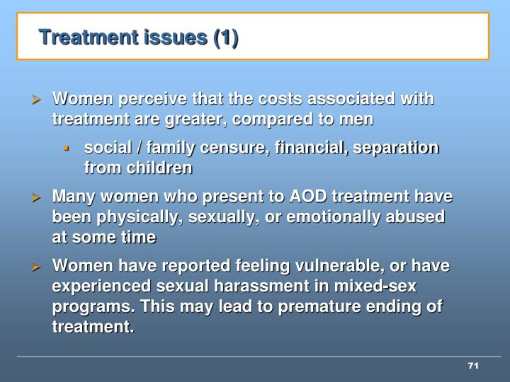 Treatment issues (1)