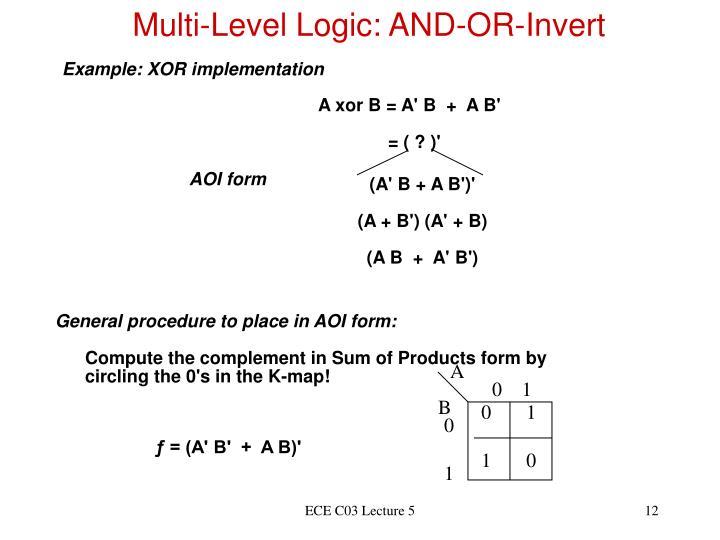 Multi-Level Logic: AND-OR-Invert