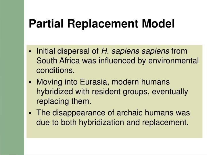 Partial Replacement Model