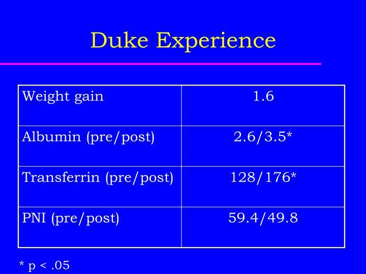 Duke Experience