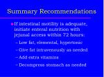 summary recommendations2