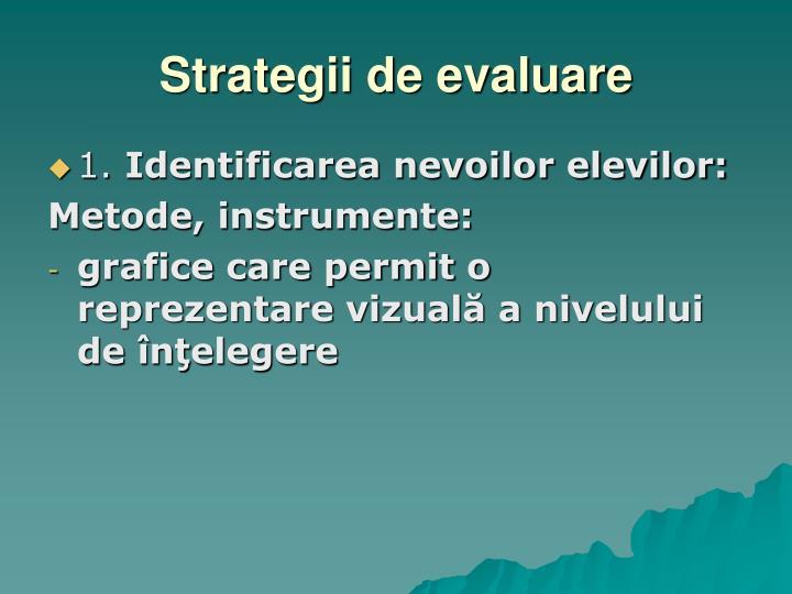Strategii de evaluare