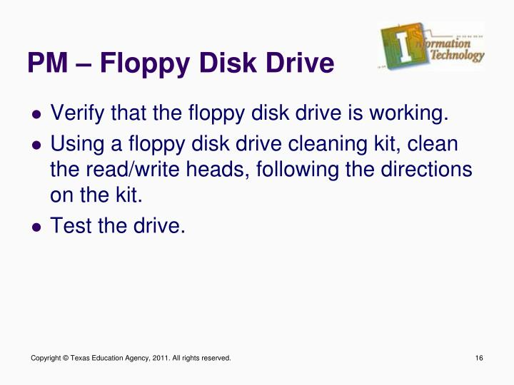 PM – Floppy Disk Drive