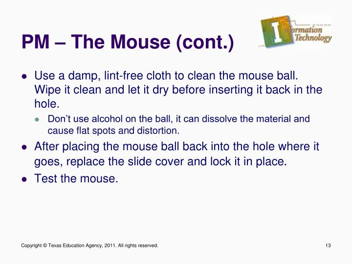 PM – The Mouse (cont.)