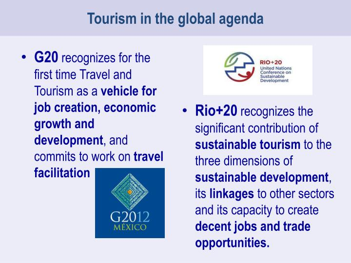 Tourism in the global agenda
