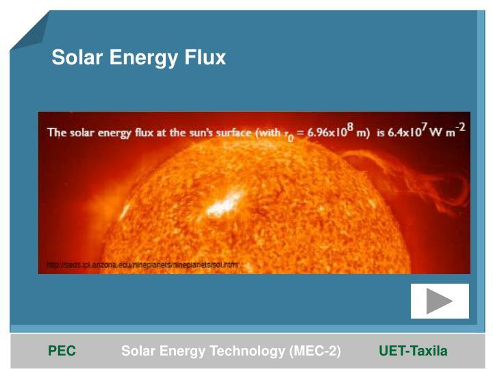 Solar Energy Flux
