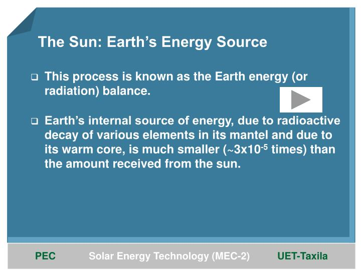 The Sun: Earth's Energy Source
