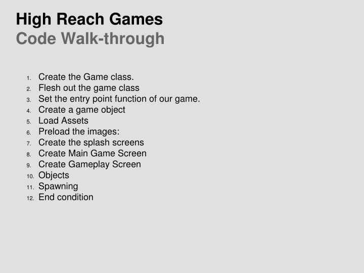 High Reach Games