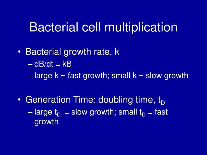 Bacterial cell multiplication