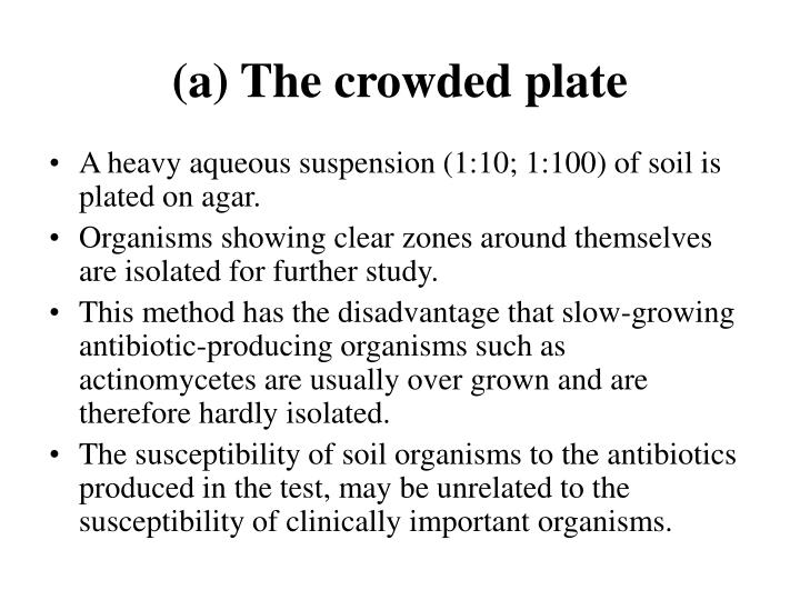 (a) The crowded plate