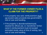 what if the former owner files a claim for the property