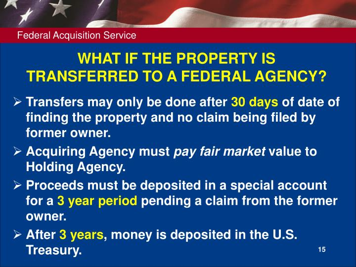 WHAT IF THE PROPERTY IS