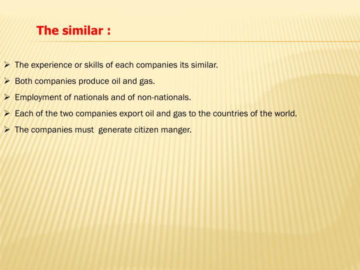 The similar :