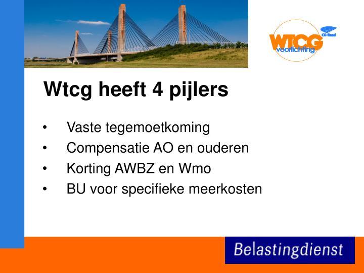Wtcg heeft 4 pijlers
