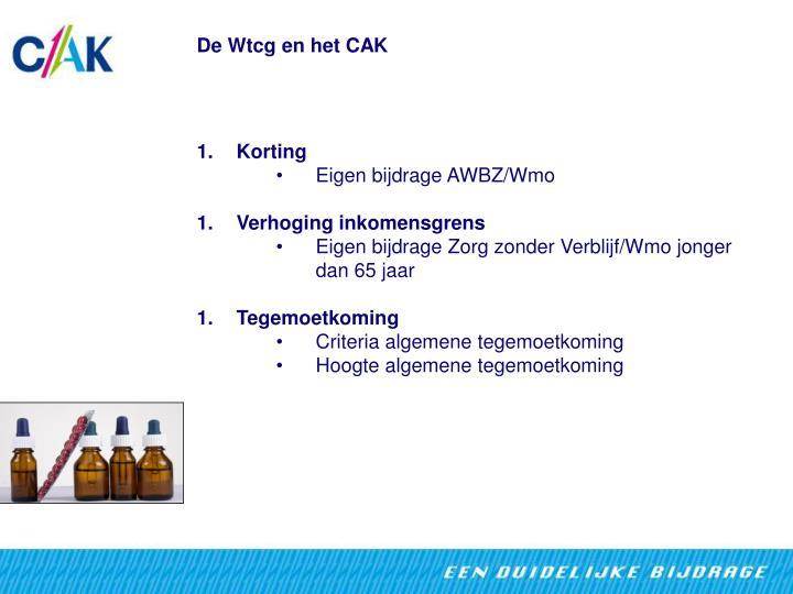 De Wtcg en het CAK