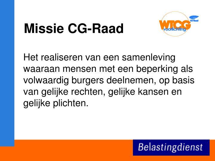 Missie CG-Raad
