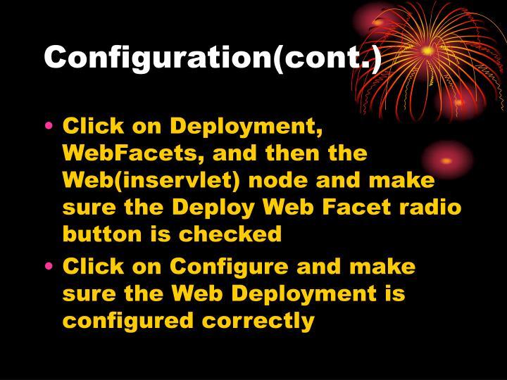 Configuration(cont.)
