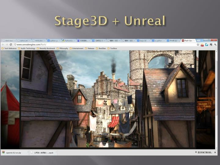 Stage3D + Unreal