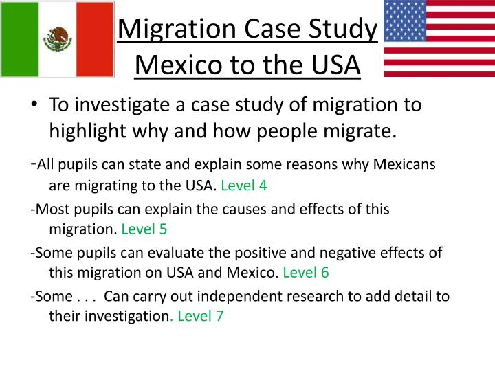 Migration case study mexico to the usa
