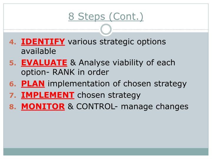 8 Steps (Cont.)