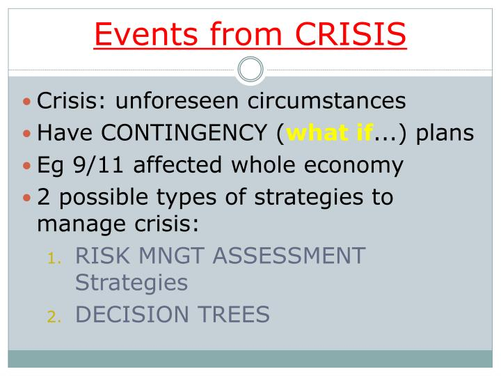 Events from CRISIS
