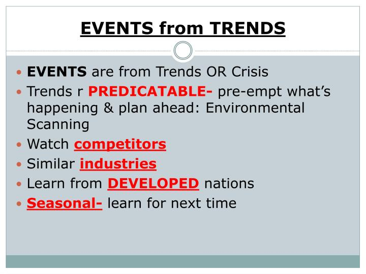 EVENTS from TRENDS