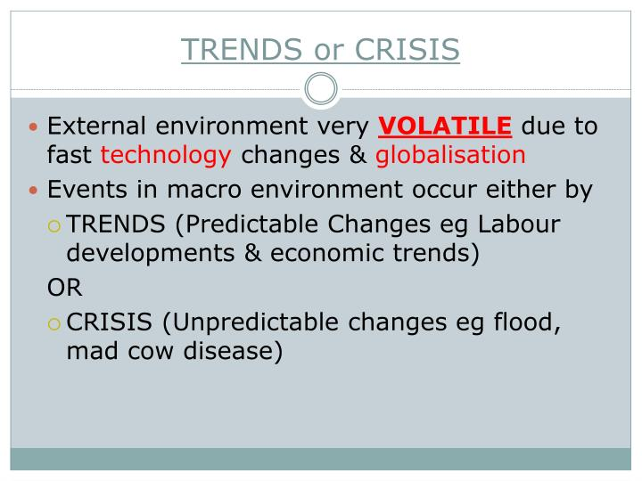 TRENDS or CRISIS
