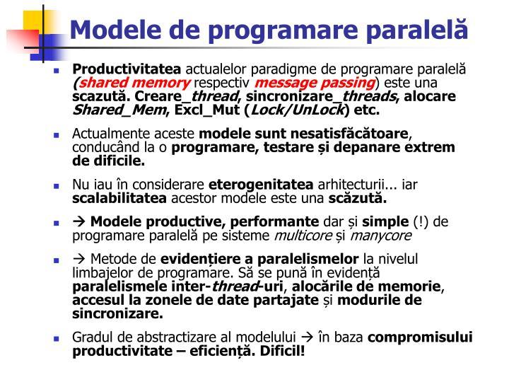 Modele de programare paralel