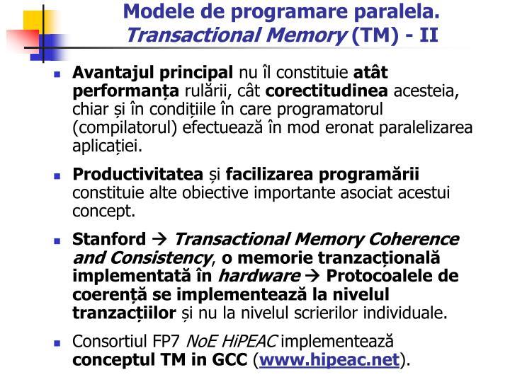 Modele de programare paralela.