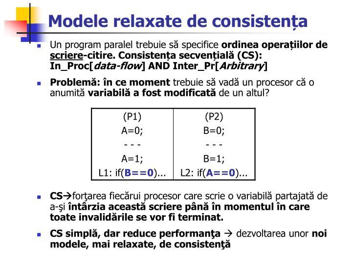 Modele relaxate de consisten