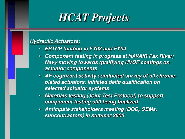 HCAT Projects