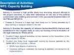 description of activities wp2 capacity building