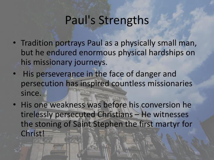 Paul's Strengths