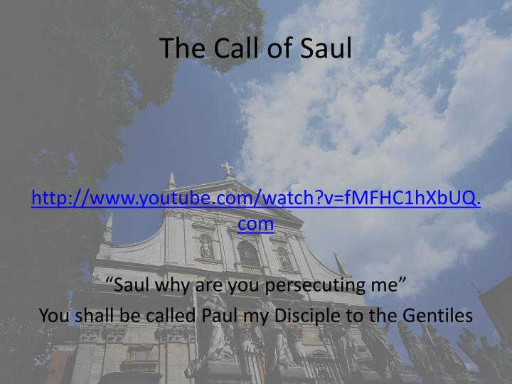 The Call of Saul