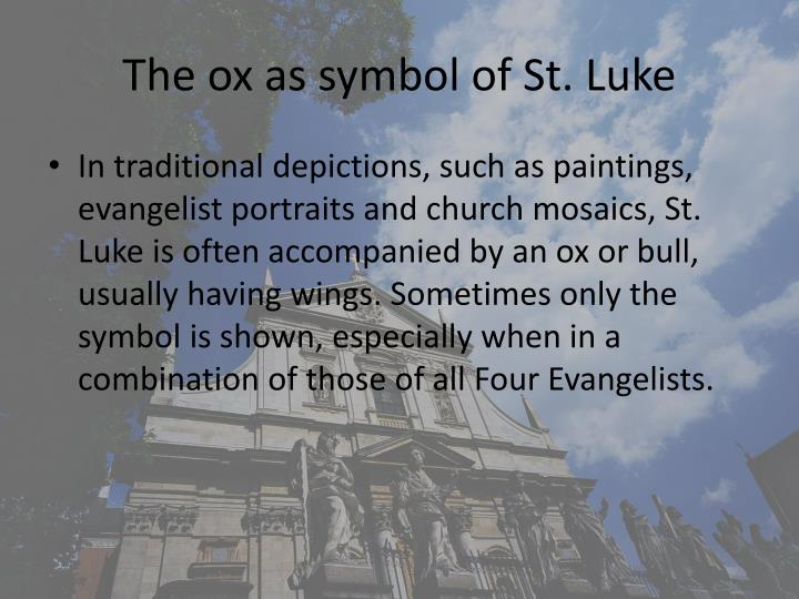 The ox as symbol of St. Luke