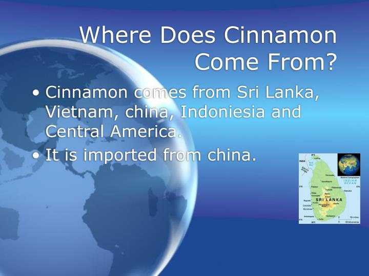 Where does cinnamon come from