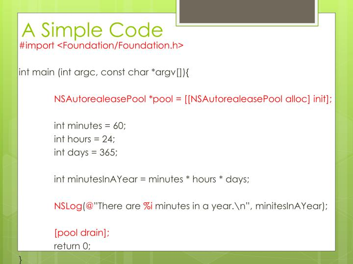 A Simple Code