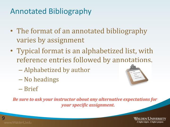 annotated bibliography powerpoint