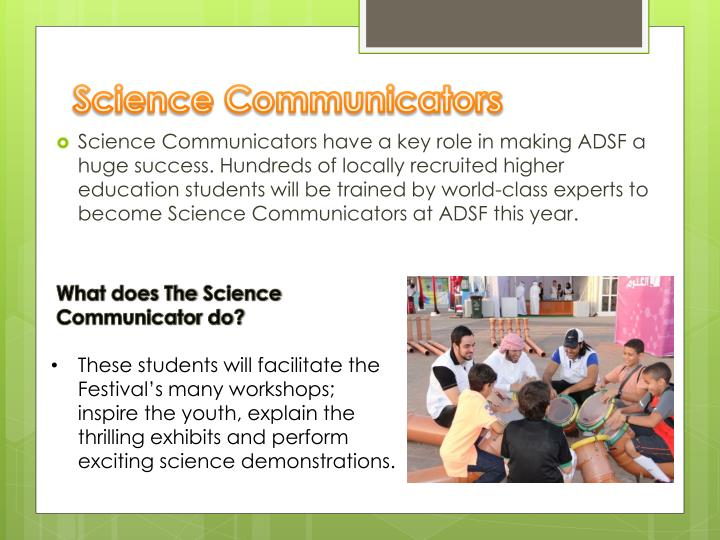 Science Communicators