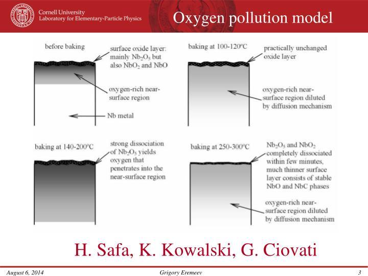 Oxygen pollution model