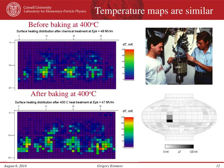 Temperature maps are similar