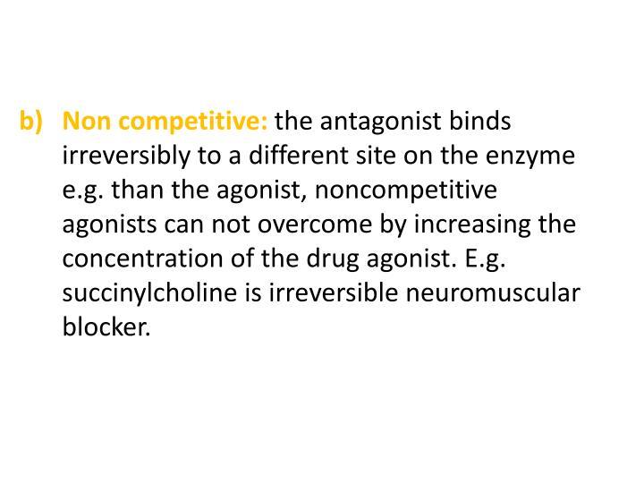 Non competitive: