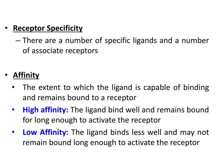 Receptor Specificity